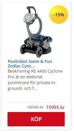 Poolrobotmaskin från Swim and Fun