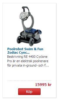 swim and fun poolrobot zodiac cdon