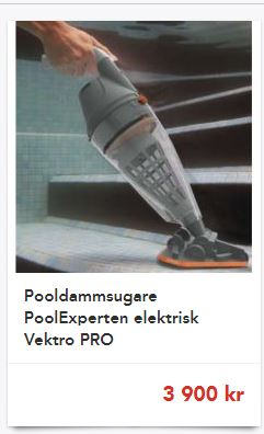 pooldammsugare elektrisk gardenstore